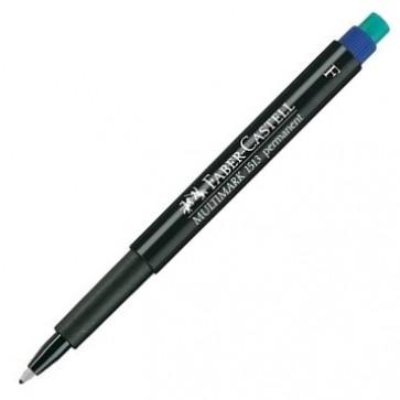 Marker permanent, albastru, 0.6mm, FABER CASTELL F Multimark