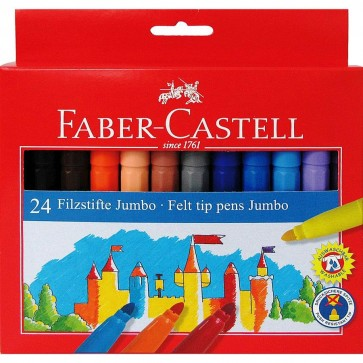 Carioci, 24 culori/set, FABER CASTELL Jumbo