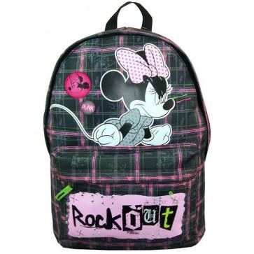 Ghiozdan, gimnaziu, simplu, negru, PIGNA Minnie Mouse Rock