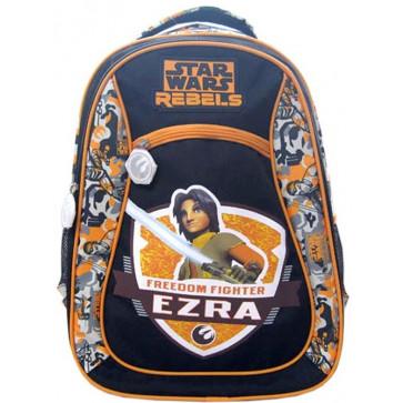 Ghiozdan, clasele 1-4, gri cu portocaliu, PIGNA Star Wars Ezra