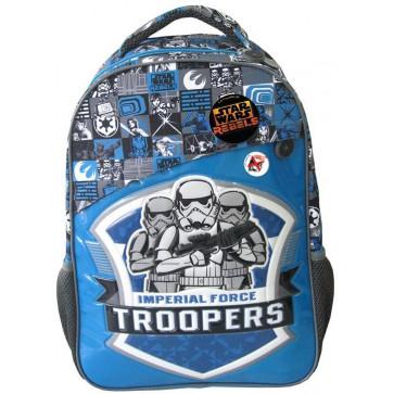 Ghiozdan, clasele 1-4, albastru, PIGNA Star Wars Imperial Force Troopers
