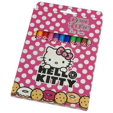Carioci, 12 culori/set, PIGNA Hello Kitty