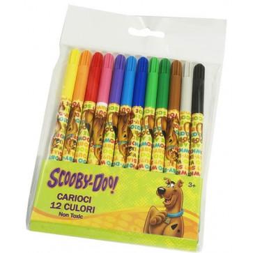 Carioci, 12 culori/set, PIGNA Scooby Doo