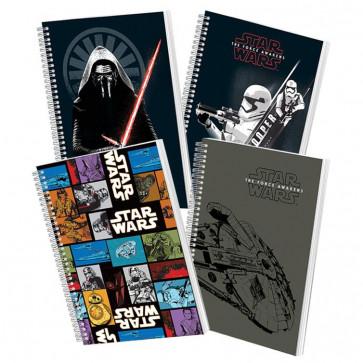Caiet cu spira, A5, 80 file, dictando, PIGNA Premium Star Wars