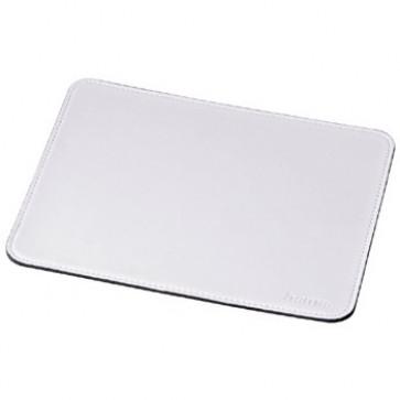 Mouse pad, imitatie piele, alb, HAMA