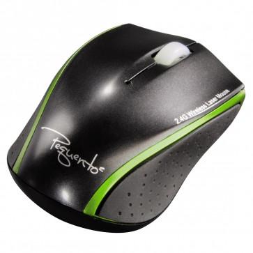 Mouse wireless, laser, negru/verde, HAMA Pequen 2