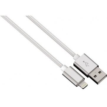 Cablu de incarcare / sincronizare Lightning pentru iPhone, HAMA Color Line, 0.5m, White