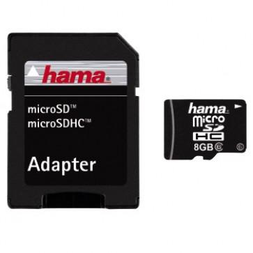 MicroSDHC, 8GB, adapor, Class 6, HAMA