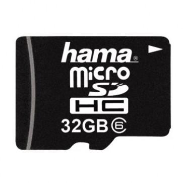 Card, microSDHC, 32GB, class 6, HAMA