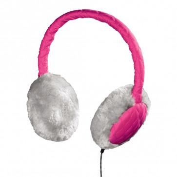 Casti cu microfon, roz, HAMA Earmuff