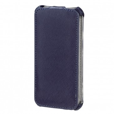 Toc iPhone 5, bleumarin, HAMA Flap