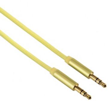 Cablu audio Jack-Jack 3.5mm pentru smartphone, Gold-Plated, 1.5m, galben, HAMA Color