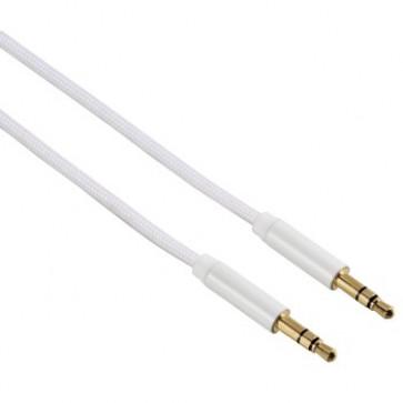 Cablu audio Jack-Jack 3.5mm pentru smartphone, Gold-Plated, 1.5m, alb, HAMA Color