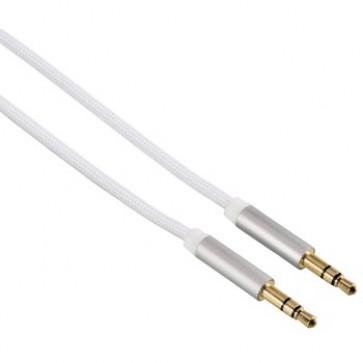 Cablu audio Jack-Jack 3.5mm pentru smartphone, Gold-Plated, 1.5m, silver, HAMA Color