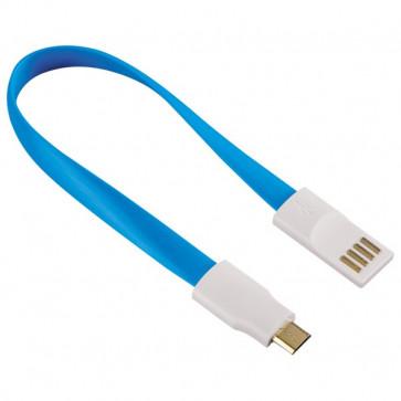 Cablu de date/incarcare microUSB cu magnet, HAMA, Blue