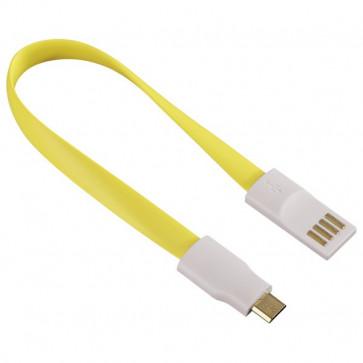 Cablu de date/incarcare microUSB cu magnet, HAMA, Yellow