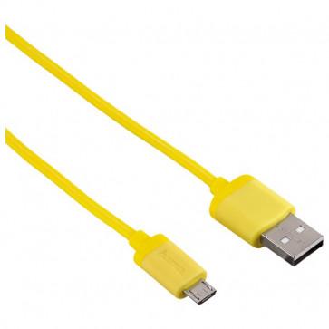 Cablu de date/incarcare microUSB, 1.4m, galben, HAMA Soft