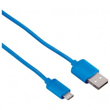 Cablu de date/incarcare microUSB, 1.4m, albastru, HAMA Soft