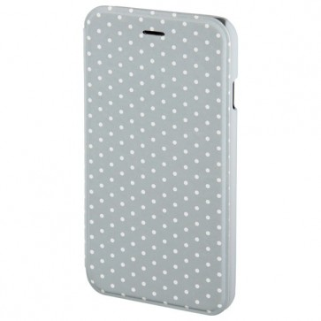 Husa Flip Cover pentru iPhone 6/6S, HAMA Luminous Dots, Grey/White