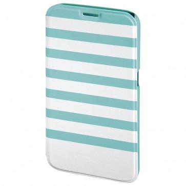 Husa Flip Cover pentru Samsung S6, HAMA Stripes Booklet, Mint/White