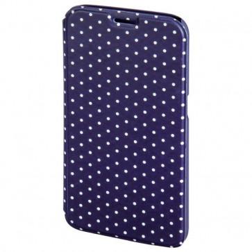 Husa Flip Cover pentru Samsung S6, HAMA Luminous Dots Booklet, Dark Blue/White