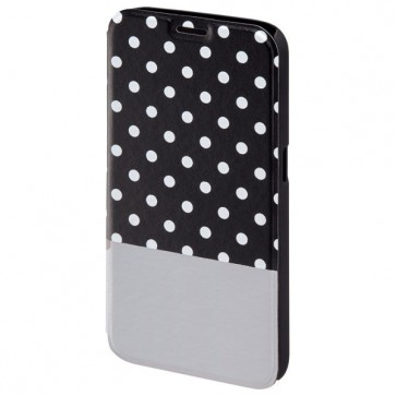 Husa Flip Cover pentru Samsung S6, HAMA Lovely Dots Booklet, Black/Grey