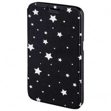 Husa Flip Cover pentru Samsung S6, HAMA Luminous Stars Booklet, Black/White