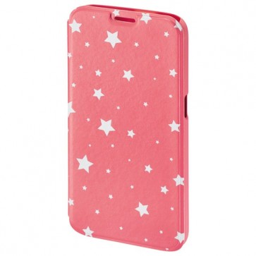 Husa Flip Cover pentru Samsung S6, HAMA Luminous Stars Booklet, Pink/White