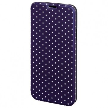Husa Flip Cover pentru Samsung S5 Neo, HAMA Luminous Dots Booklet, Dark Blue