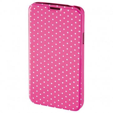 Husa Flip Cover pentru Samsung S5 Neo, HAMA Luminous Dots Booklet, Pink/White