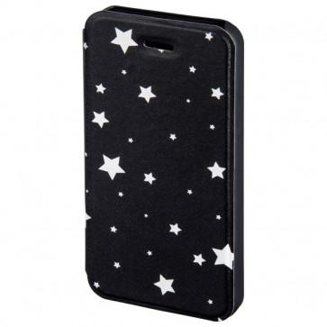 Husa Flip Cover pentru iPhone 5/5S, HAMA Luminous Stars Booklet, Black/White