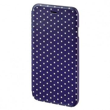 Husa Flip Cover pentru iPhone 6/6S, HAMA Luminous Dots Booklet, Dark Blue/White