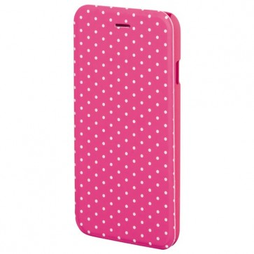 Husa Flip Cover pentru iPhone 6/6S, HAMA Luminous Dots Booklet, Pink/White