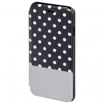 Husa Flip Cover pentru iPhone 6/6S, HAMA Lovely Dots Booklet, Black/Grey