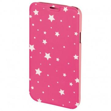 Husa Flip Cover pentru iPhone 6/6S, HAMA Luminous Stars Booklet, Pink/White