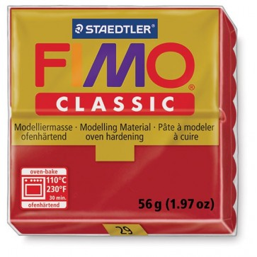 Plastilina pt. modelaj, 56gr, bordo (bordeaux), STAEDTLER Fimo Classic