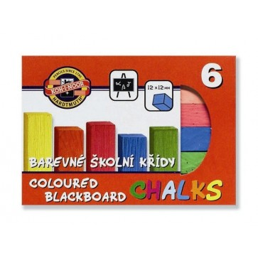 Creta colorata scolara, pentru tabla, 6 culori, KOH-I-NOOR