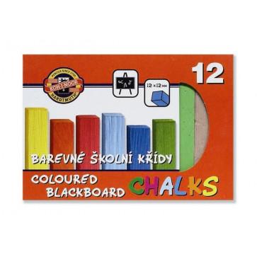 Creta colorata scolara, pentru tabla, 12 culori, KOH-I-NOOR