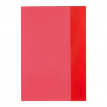 Coperta A5, PP, rosu transparent, 25 buc/set, HERLITZ
