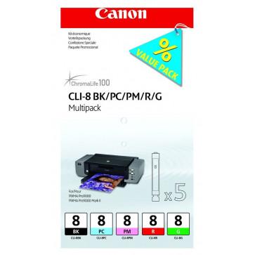 Cartus, BK/PC/PM/R/G, CANON CLI-8 MultiPack