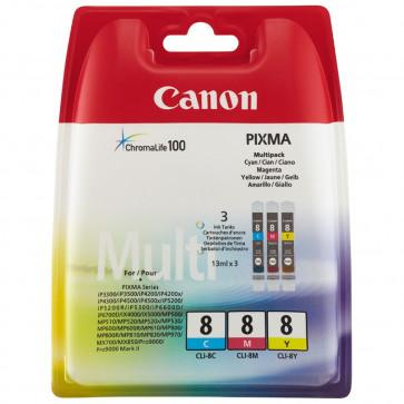 Cartus, 3 culori/set, CANON CLI8C/M/Y