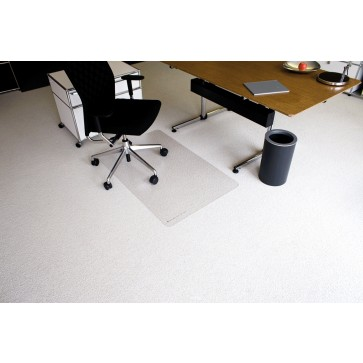 Protectie podea pentru covoare, forma O, 75 x 120cm, RS OFFICE EcoBlue
