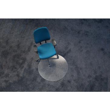 Protectie podea pentru covoare, forma R, diametru 60cm, RS OFFICE EcoBlue