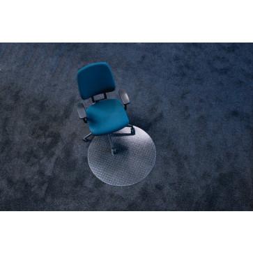 Protectie podea pentru covoare, forma R, diametru 90cm, RS OFFICE EcoBlue