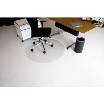 Protectie podea pentru covoare, forma R, diametru 120cm, RS OFFICE EcoBlue