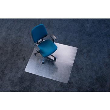 Protectie podea pentru covoare, forma O, 110 x 120cm, RS OFFICE EcoBlue