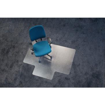 Protectie podea pentru covoare, forma L, 130 x 120cm, RS OFFICE EcoBlue
