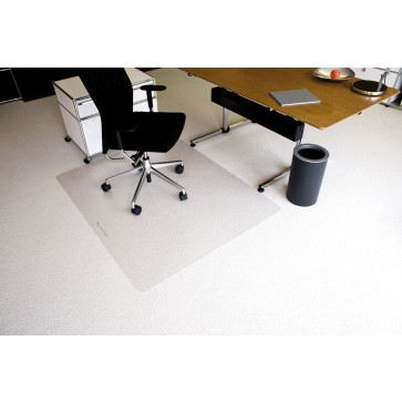 Protectie podea pentru covoare, forma O, 150 x 120cm, RS OFFICE EcoBlue