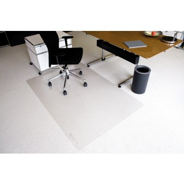 Protectie podea pentru covoare, forma O, 200 x 120cm, RS OFFICE EcoBlue