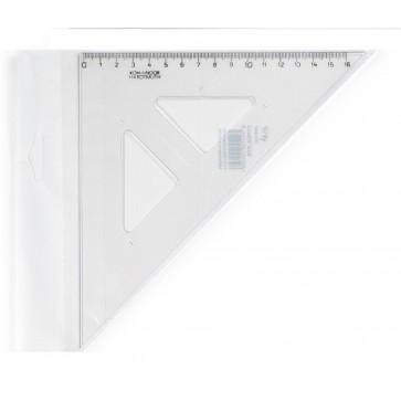 Echer din plastic, cu linie mediana, 45º / 177 mm, KOH-I-NOOR